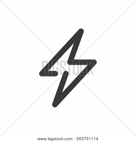 Power Vector Icon On White Background. Power Icon In Modern Design Style. Power Vector Icon Popular