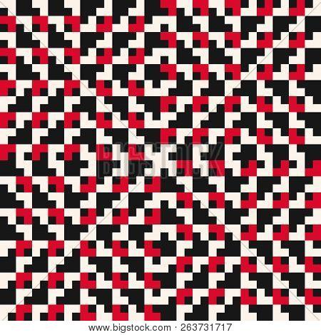 Vector Seamless Pattern. Traditional Geometric Folklore Ornament. Tribal Ethnic Motif. Ornamental Te