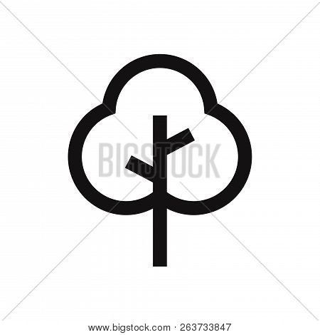 Tree Icon Isolated On White Background. Tree Icon In Trendy Design Style. Tree Vector Icon Modern An