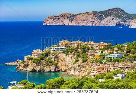 Spain Mediterranean Sea, View Of Costa De La Calma, Beautiful Coast On Mallorca, Balearic Islands, S