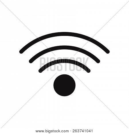 Wifi Signal Icon Isolated On White Background. Wifi Signal Icon In Trendy Design Style. Wifi Signal