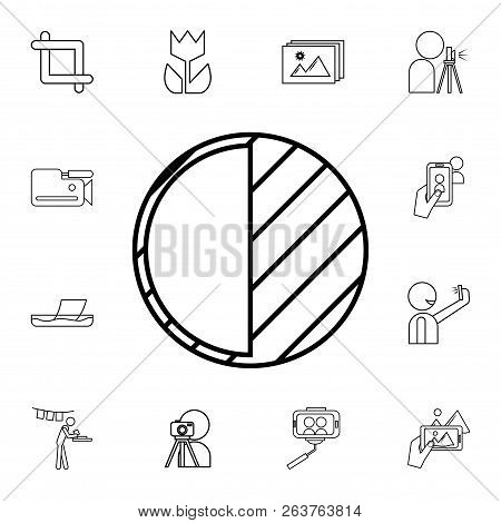 Contrast Icon. Detailed Set Of Photo Camera Icons. Premium Quality Graphic Design Icon. One Of The C