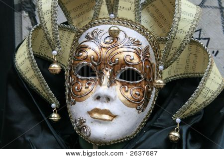 """Some pics taken during the last day of Carnival """"fat Tuesday"""" in Venice Italy poster"""