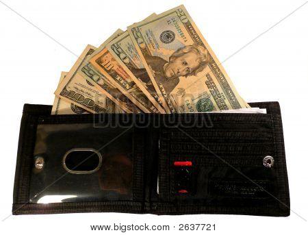 Öffnen Sie Brieftasche und Dollar