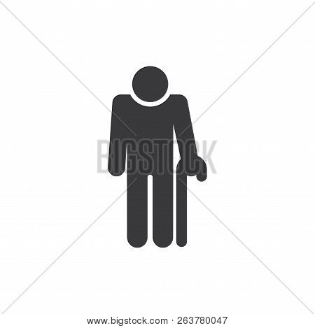 Old Man Vector Icon On White Background. Old Man Icon In Modern Design Style. Old Man Vector Icon Po