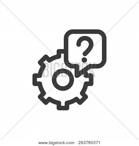 Support Vector Icon On White Background. Support Icon In Modern Design Style. Support Vector Icon Po