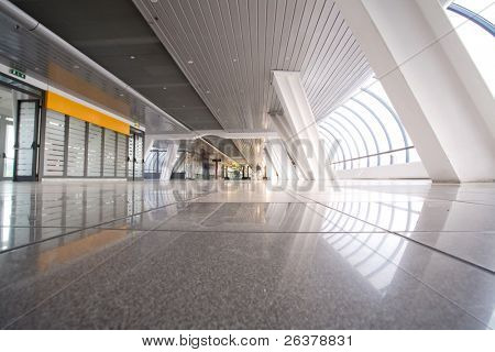 Empty modern building interior
