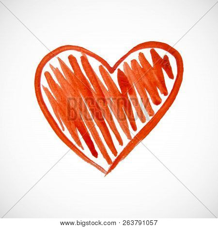 Red Heart On White Vector Photo Free Trial Bigstock