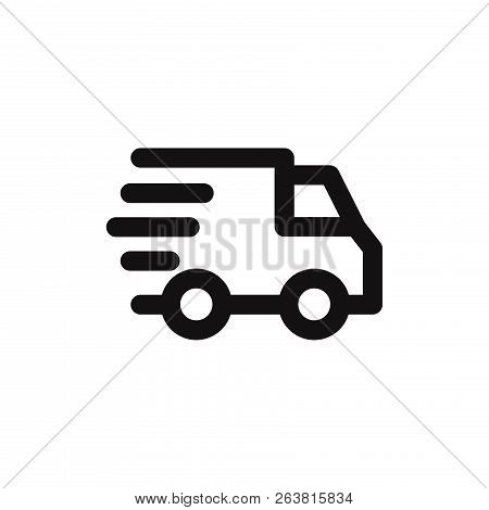 Delivery Icon Isolated On White Background. Delivery Icon In Trendy Design Style. Delivery Vector Ic