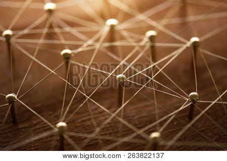 Congested , unorganized or complicated network. Linking entities. Monotone. Networking, social media, SNS, internet communication abstract. poster