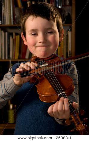 Boy Playng Violn