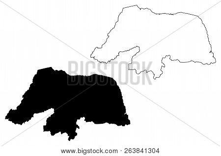 Rio Grande Do Norte (region Of Brazil, Federated State, Federative Republic Of Brazil) Map Vector Il
