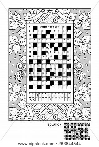 image relating to Codeword Puzzles Printable identified as Puzzle Coloring Vector Image (Absolutely free Demo) Bigstock