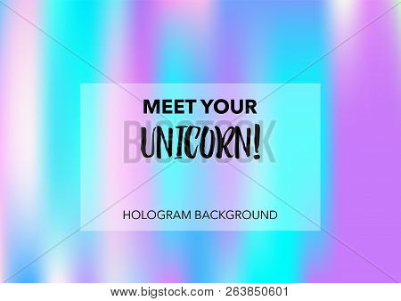 Magic Hologram Lights Vector Background. Luxury Trendy Tender Pearlescent Glam Overlay. Cool Funky H