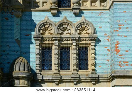 Window Of Old Church, Architectural Detail. Assumption (uspenskyi) Cathedral Of  Bila Krynytsia Old