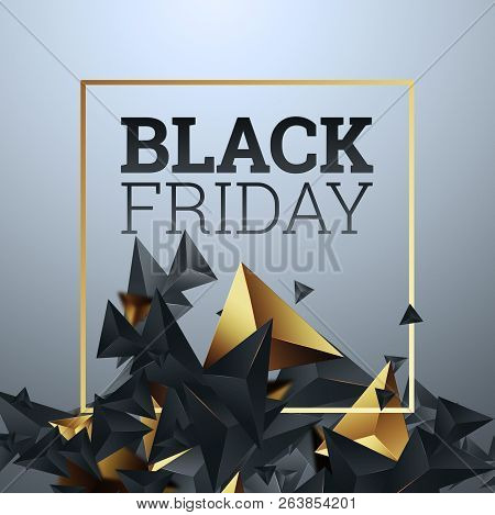 Creative Background, Inscription Black Friday On A Light Background, Hot Sale, Discounts.. Abstract