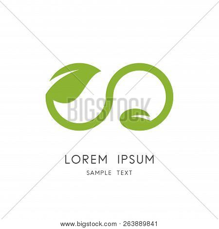 Infinity Nature Logo - Green Leaf And Seed Symbol. New Life, Agriculture And Cultivation Vector Icon