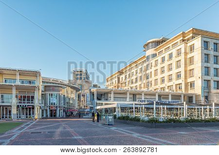 Cape Town, South Africa, August 9, 2018: The Clock Tower Shopping Centre At The Victoria And Alfred