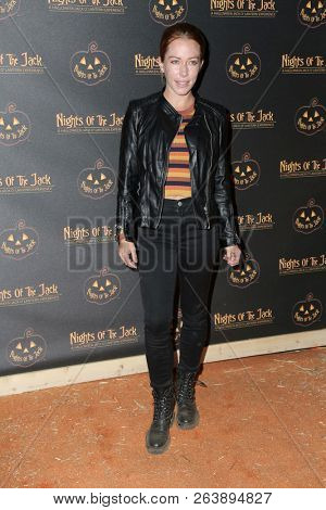 LOS ANGELES - OCT 10:  Kendra Wilkinson at the Nights Of The Jack Halloween Activation Launch Party at the King Gillette Ranch on October 10, 2018 in Calabasas, CA