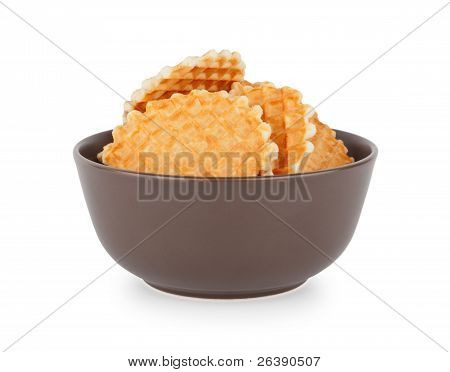 Waffles In The Bowl, Front View
