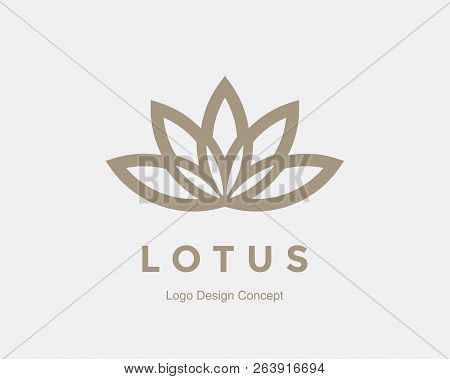 Abstract Flower Design. Silhouette Creative Symbol. Universal Icon. Lotus Sign. Simple Logotype Temp