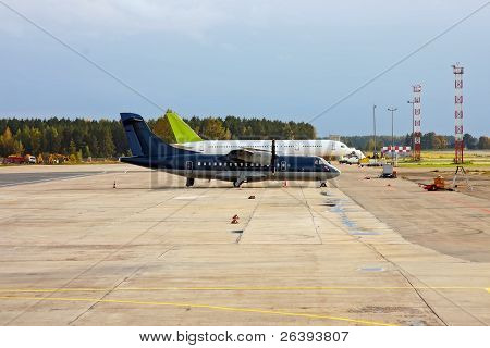 Two Airliners On Airfield