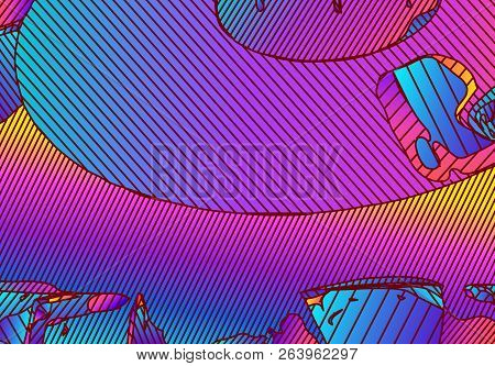 Abstract Vibrant Background With Vivid Color Gradients And Lines