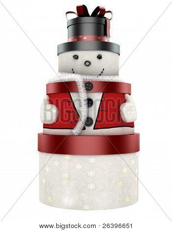3D Cute Snow Man