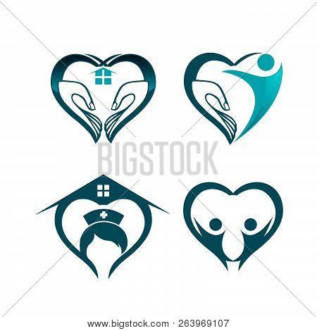 Medical Logo Set, Medical Center Logo,heart Logo, Health Logo, Doctor Logo, Medicine Logo, Medical I