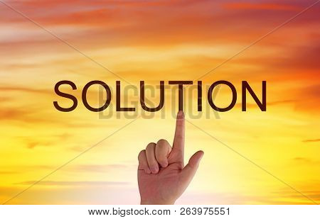 Business Solution, Solving Problem, Strategy And Planning Concept