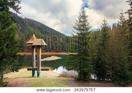 Beautiful Scenery Of A Synevyr Lake In Autumn. Popular Tourist Destination Of Transcarpathia