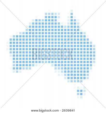 Australia Map Square Mosaic