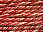 rows of striped candy canes poster