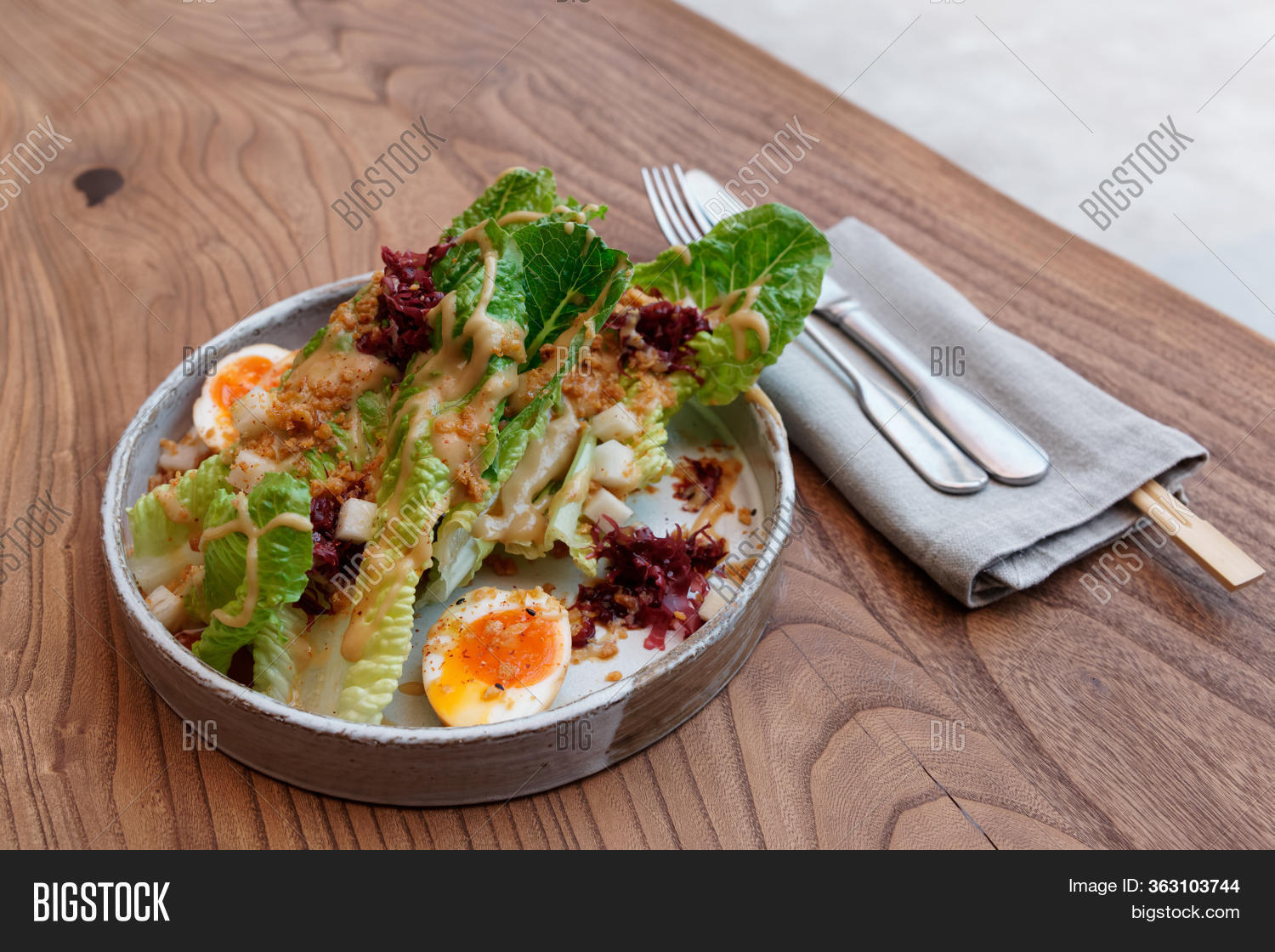 Caesar Salad Cooked Image Photo Free Trial Bigstock