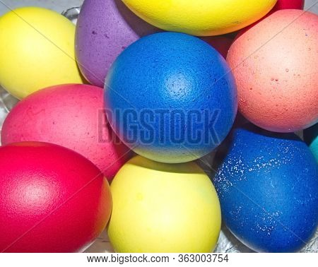 Colorful Easter Eggs - Part Of The Passover Meal. Easter (bright Sunday Of Christ) Is The Oldest And