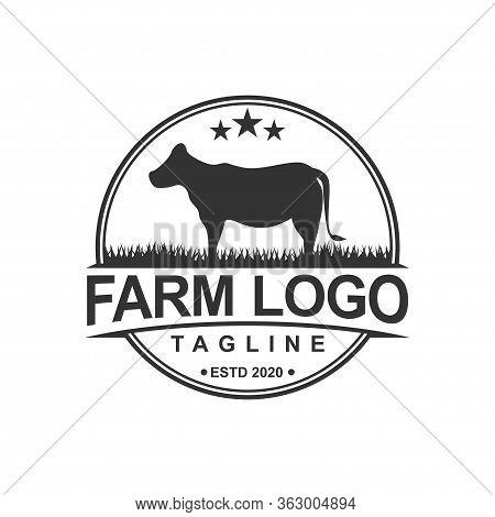 Farm Concept Logo Template. Label For Farm Products. Vector Illustration