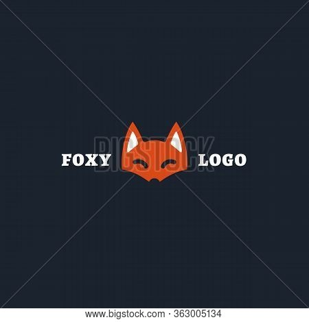 Foxy Logo, Label Design Template. Vector Illustration.