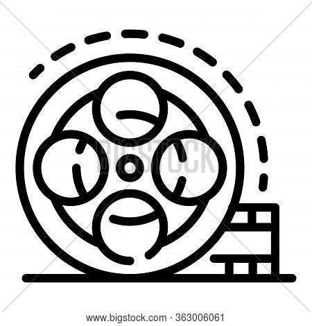 Video Coil Icon. Outline Video Coil Vector Icon For Web Design Isolated On White Background