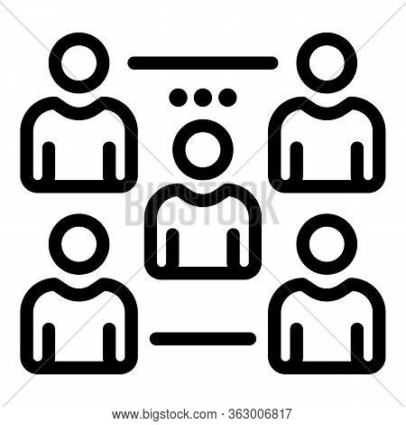 Team Lead In A Group Icon. Outline Team Lead In A Group Vector Icon For Web Design Isolated On White