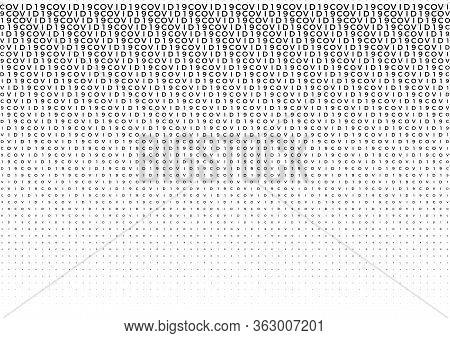 Coronavirus Background Halftone. Modern Vector Illustration. Covid-19 Outbreak Concept. Monochrome B