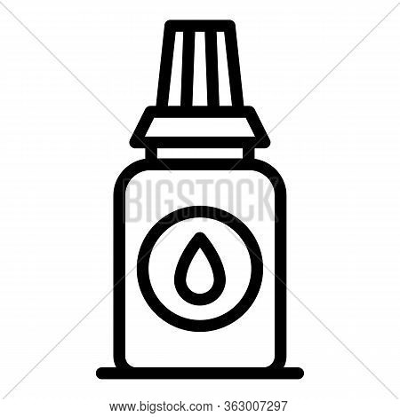 Glue Bottle Icon. Outline Glue Bottle Vector Icon For Web Design Isolated On White Background
