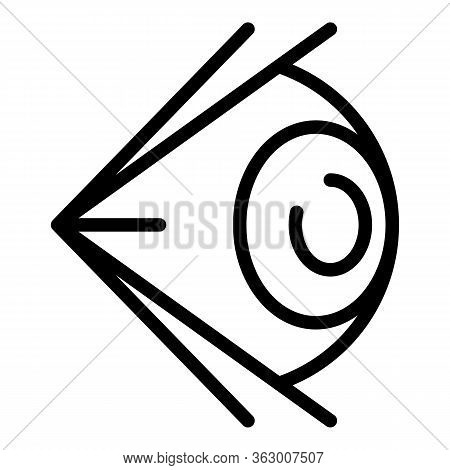 Human Eye Side View Icon. Outline Human Eye Side View Vector Icon For Web Design Isolated On White B