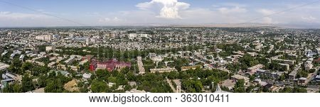Osh, Kyrgyzstan - June 29, 2019: Panorama Of The Districts Kapital Osh In Kyrgyzstan.