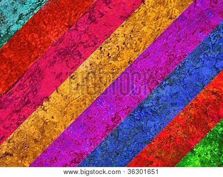 Multicolored Retro Vintage