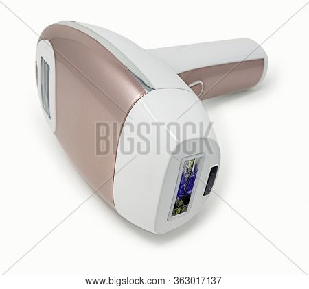 At home do it yourself permanent laser hair remover with Clipping Path.