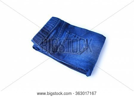 A Jean Fold Isolated On White Background.
