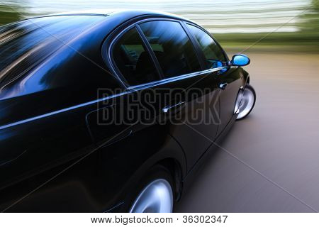amazing shot of car in turn