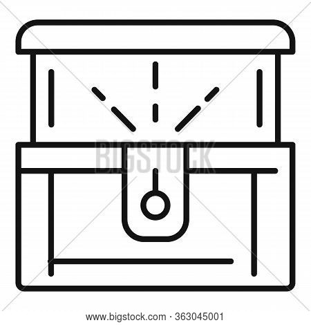 Millionaire Dower Chest Icon. Outline Millionaire Dower Chest Vector Icon For Web Design Isolated On