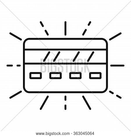 Millionaire Credit Card Icon. Outline Millionaire Credit Card Vector Icon For Web Design Isolated On