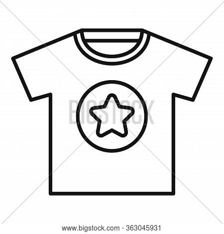 Advertising Tshirt Icon. Outline Advertising Tshirt Vector Icon For Web Design Isolated On White Bac